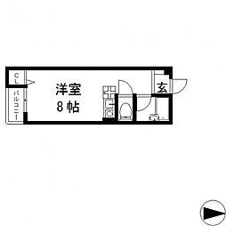 ピア小阪[303号室号室]の間取り