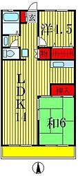 弥生マンション[2階]の間取り