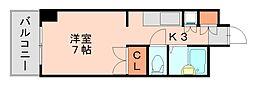 ソレイユビル[3階]の間取り