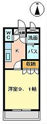 埼玉県越谷市大字大道の賃貸マンションの間取り