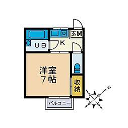 ボナール三田[2階]の間取り
