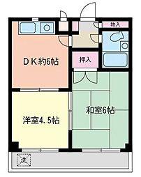神奈川県相模原市南区相武台1の賃貸マンションの間取り