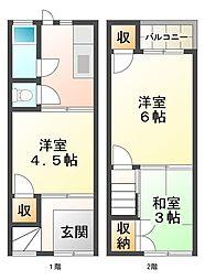 [一戸建] 兵庫県神戸市垂水区乙木2丁目 の賃貸【兵庫県 / 神戸市垂水区】の間取り