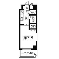 びい6植田[9階]の間取り