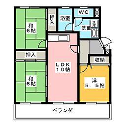 ユーハウス第2ゆたか台 西棟[3階]の間取り