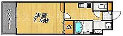 エンクレスト薬院[14階]の間取り