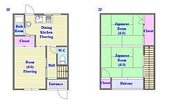 [一戸建] 兵庫県神戸市垂水区星陵台6丁目 の賃貸【兵庫県 / 神戸市垂水区】の間取り