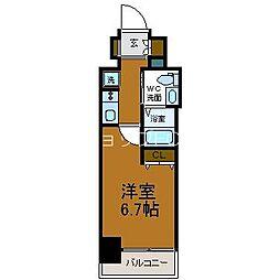 Osaka Metro谷町線 天神橋筋六丁目駅 徒歩13分の賃貸マンション 6階1Kの間取り