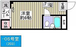 寄川マンション[305号室]の間取り