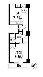 神奈川県藤沢市湘南台1丁目の賃貸マンションの間取り