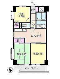 エクセレント北山田[306号室号室]の間取り