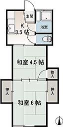 岩川荘A[102号室]の間取り