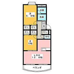 シャローム[3階]の間取り