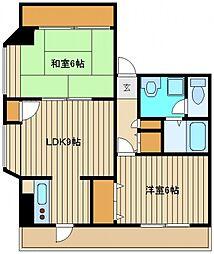 東京都練馬区東大泉7の賃貸マンションの間取り