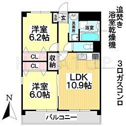 愛知県名古屋市南区砂口町の賃貸マンションの間取り