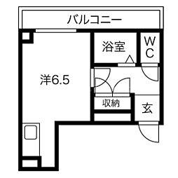 シェノール札幌[2階]の間取り