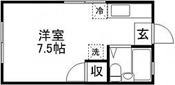 長島ハイツ[103号室]の間取り