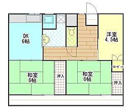 ビレッジハウス松崎 2号棟[201号室]の間取り