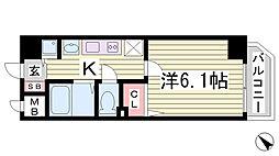 プレサンス神戸プレシャス[8階]の間取り
