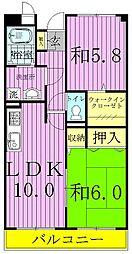 ロイヤルガーデン(愛宕)[3階]の間取り