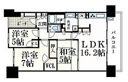 神戸新交通六甲アイランド線 アイランド北口駅 徒歩5分の賃貸マンション 2階3LDKの間取り