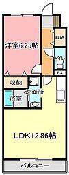 ミタカII[3階]の間取り