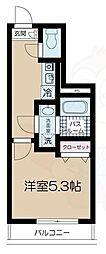 フェリーチェ高円寺C 2階1Kの間取り