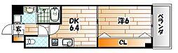 コンフォート・スクエア安部山[605号室]の間取り