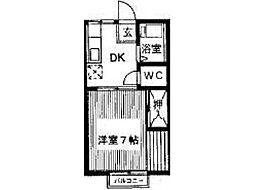 サンハイツシマダ[1階]の間取り