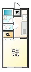栃木県宇都宮市上戸祭3丁目の賃貸アパートの間取り
