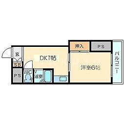 東中島第1土井マンション[7階]の間取り