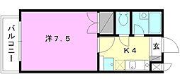 湯築ロジュマン1[402 号室号室]の間取り