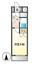セントラルコート八田[3階]の間取り