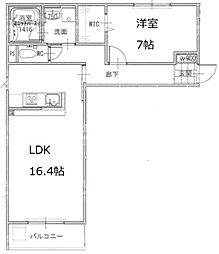 カステル・ルーク豊新[3階]の間取り