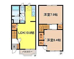 [タウンハウス] 長野県長野市上松5丁目 の賃貸【/】の間取り