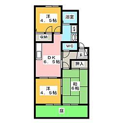 ボナール八島[1階]の間取り