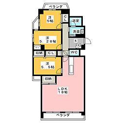 サンアメニティ岡崎駅II[5階]の間取り