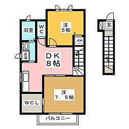 サクラヴィアーレ大浜 B,C,D棟[2階]の間取り