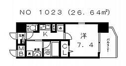 ソレアードコート[6階]の間取り