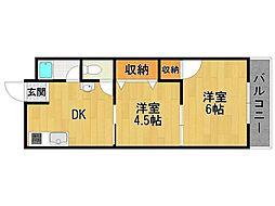 浅堀マンション[3階]の間取り