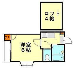大橋メゾンBMIII[2階]の間取り