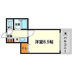 東三国土井マンション[11階]の間取り