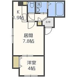SUONO南円山[4階]の間取り
