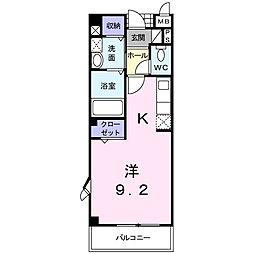 マーベラスC[1階]の間取り