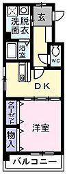 シャンベルジュKT[208号室]の間取り