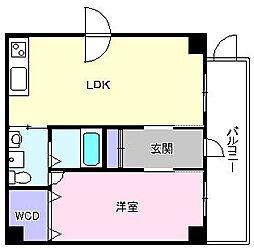 ブランカ堺東[405号室]の間取り