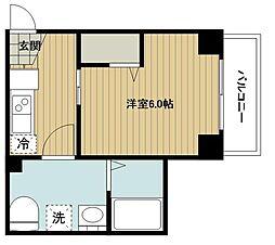 S-RESIDENCE妙蓮寺 2階1Kの間取り