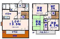 [テラスハウス] 千葉県市川市八幡4丁目 の賃貸【/】の間取り