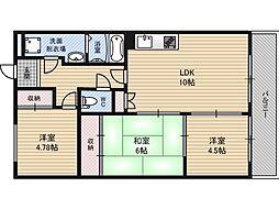 新大阪ファミール東館[2階]の間取り