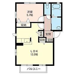 クレメント II[2階]の間取り